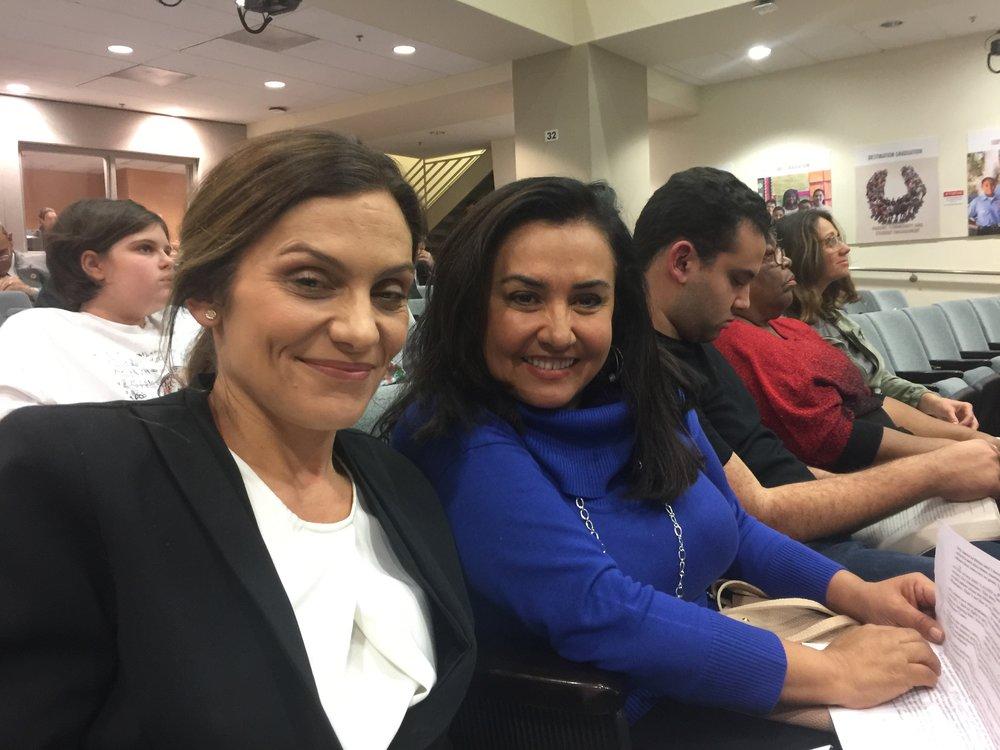 Speak UP Parent Leaders Elisabet Spaulding and Brisa Michaels