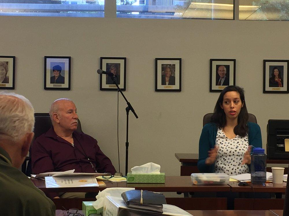 Board Members Scott Schmerelson (left) and Kelly Gonez