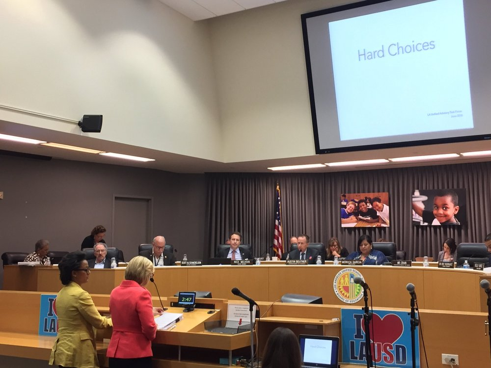 LAUSD's Advisory Task Force Presents 'Hard Choices' Report to Board