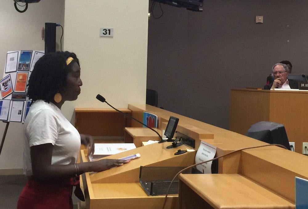 "Speak UP's Jalisa Johnson calls LAUSD's budget ""irresponsible."""