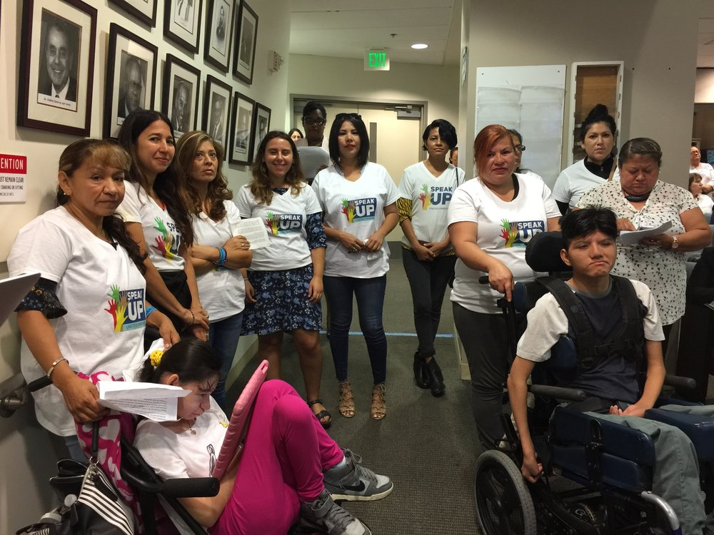 Speak UP parents from BD5 spoke out in support of a March 5 special election and an open process that includes parents to select an interim appointee.