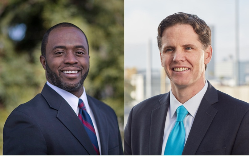 SPI Candidate Tony Thurmond (left) has accepted donations from the prison officers union in his race against Marshall Tuck (right).