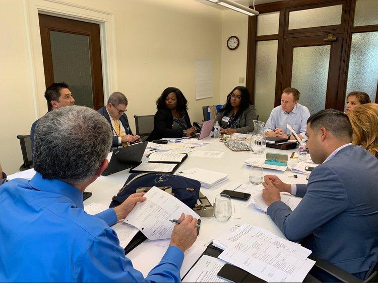 LAUSD Superintendent Austin Beutner and his bargaining team