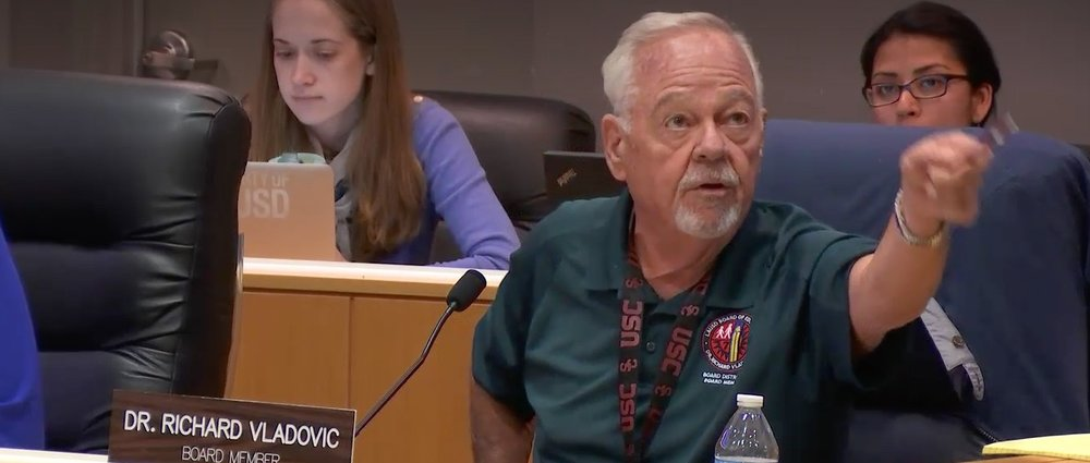 Board Member Richard Vladovic pulled his support from a resolution he had co-sponsored.