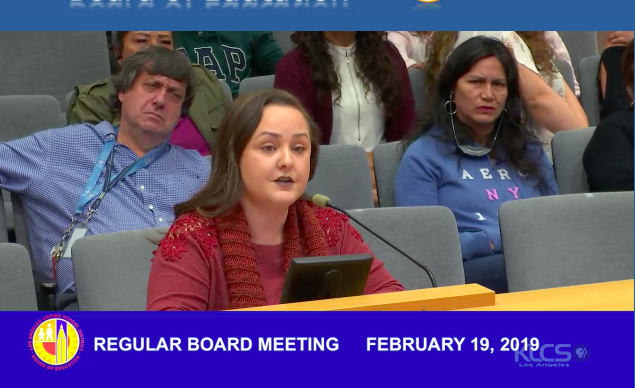Speak UP parent Roxann Nazario urged the board to end its must-place teacher policy.