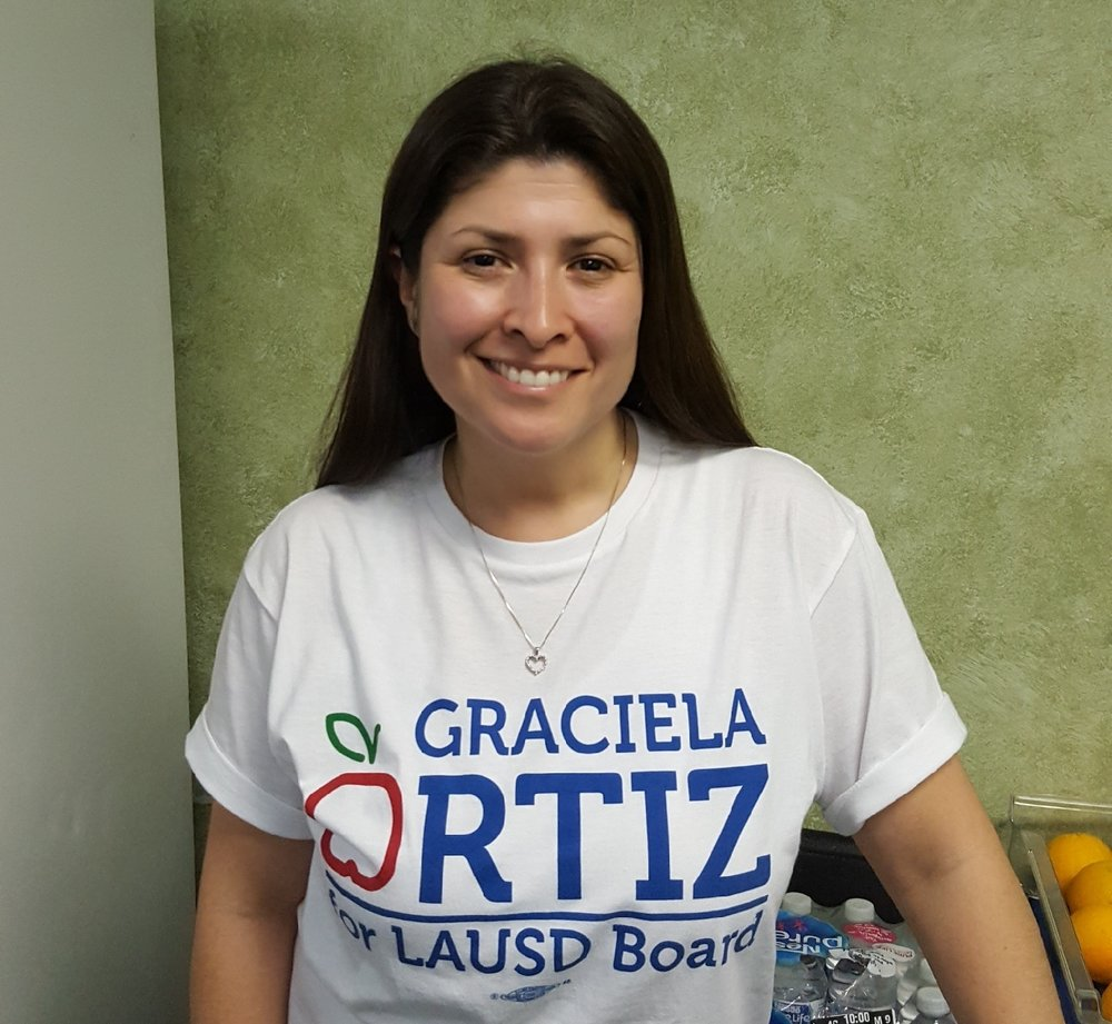 Graciela Ortiz at her election headquarters Tuesday night