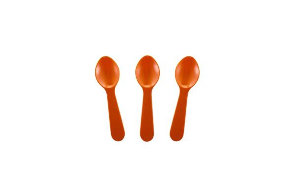 Solid Orange Tasting Spoon