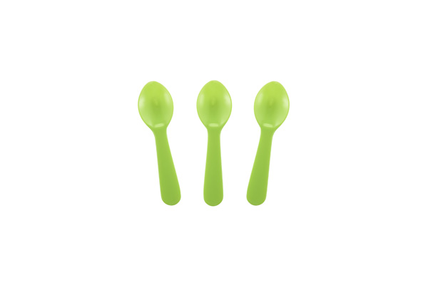 Solid Green Tasting Spoon