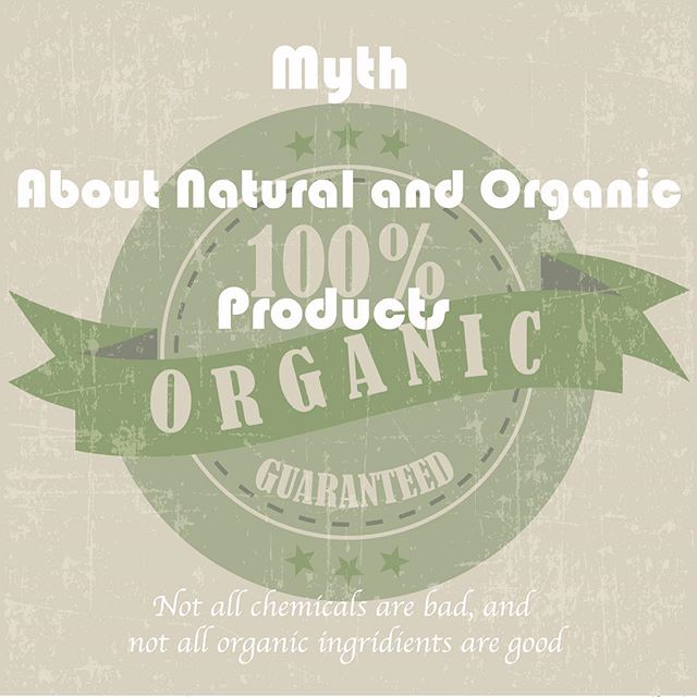 "Tuesdays are for Myths!  Don't think that when you see a label ""Organic"" it automatically means Good for your skin. Many natural products are not as natural as they claim. Plus, many times active ingredients have to be synthesized to be effective. Synthetic compounds can actually be identical to those found in nature and be more effective. Doctor doesn't give you broccoli when you have a flu, right?"