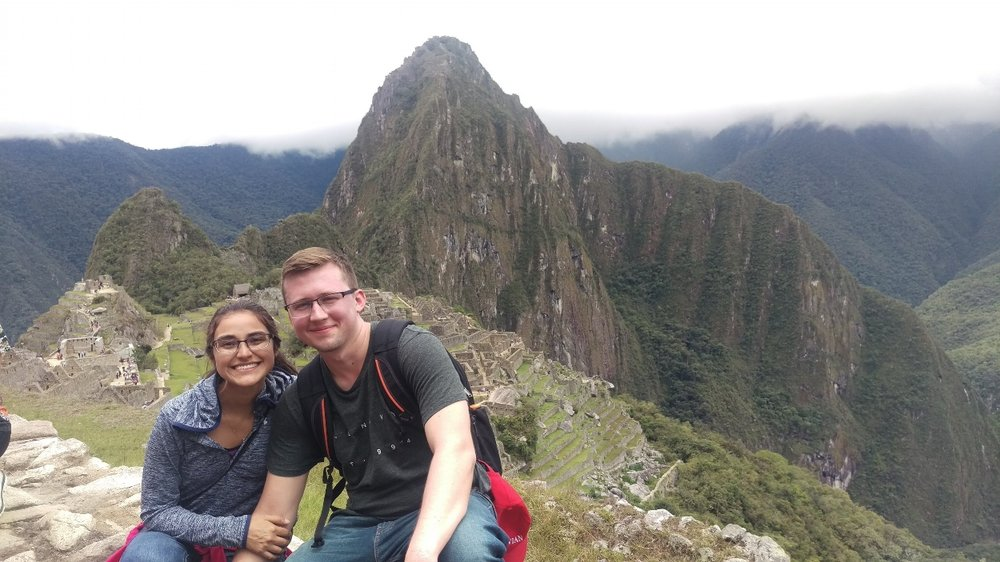 Katherine, my future wife, and me at Machu Picchu.