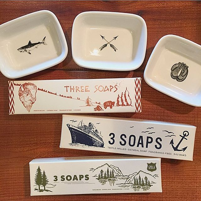 Oatmeal soap sets and our favorite soap dishes: #giftideas . . . . .  #holidayshopping #shoplocal #shopsmall #gifts #giftsforhim #ojai #soap #soapdish