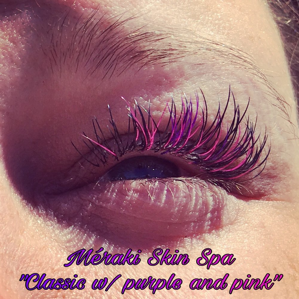 alt text classic colored lash extensions meridian Idaho volume eyelash extensions