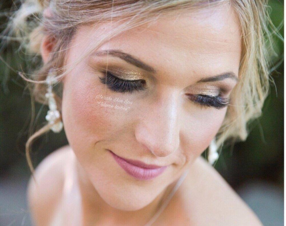 alt text bridal volume eyelash extensions