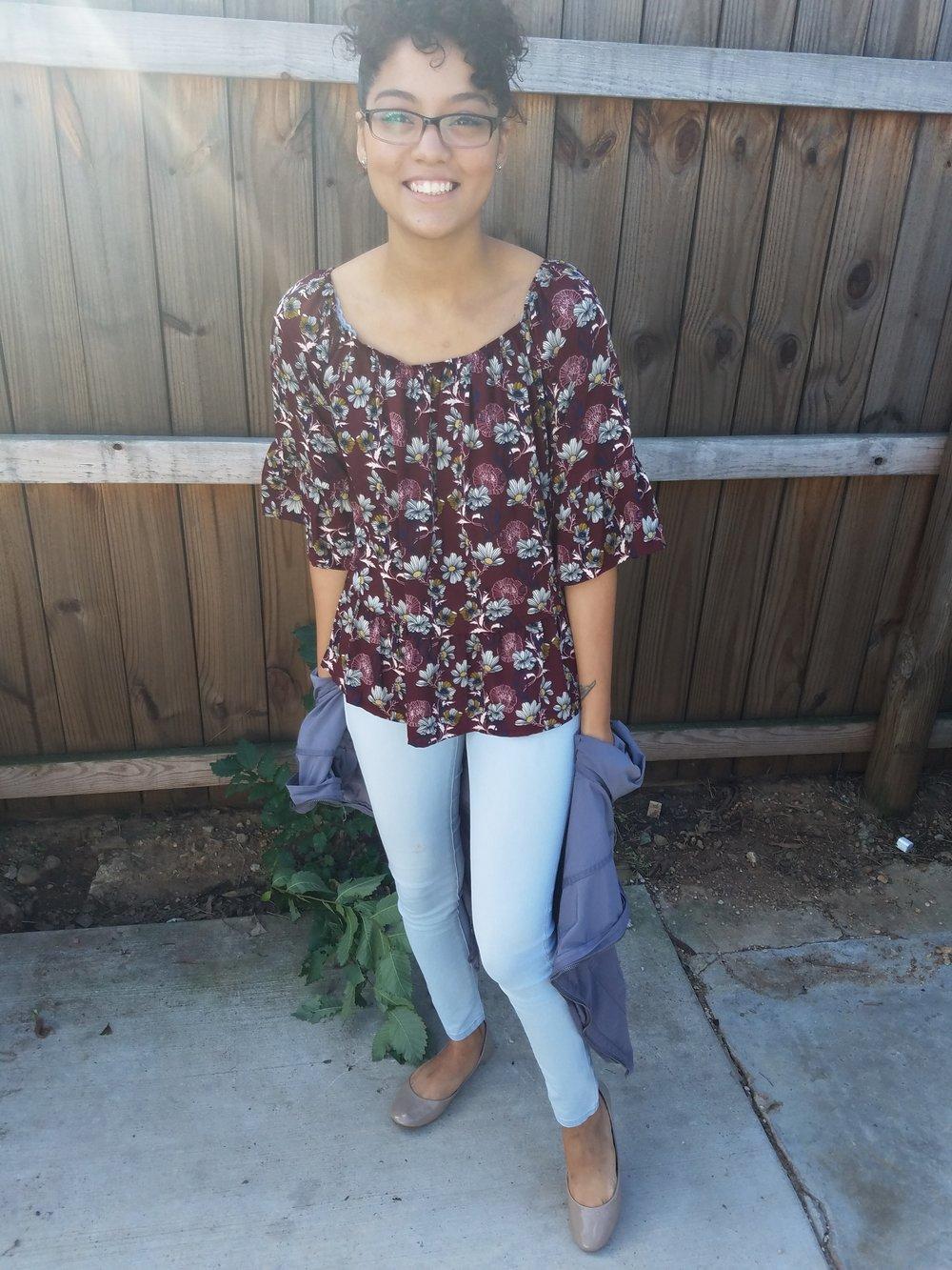 Shirt: Francesca's || Jacket: Target || Jeans: Aeropostale || Shoes: Target