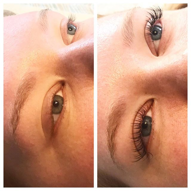 Even on vacation, I do some lashes! This is my beautiful sister.