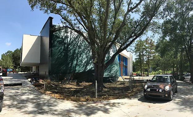 Almost Home - The exterior of the facility has come along beautifully. With each step, we get a little closer to calling this incredible facility home!