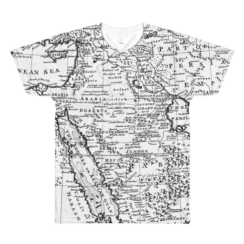 3889193da All-Over Map T-Shirt
