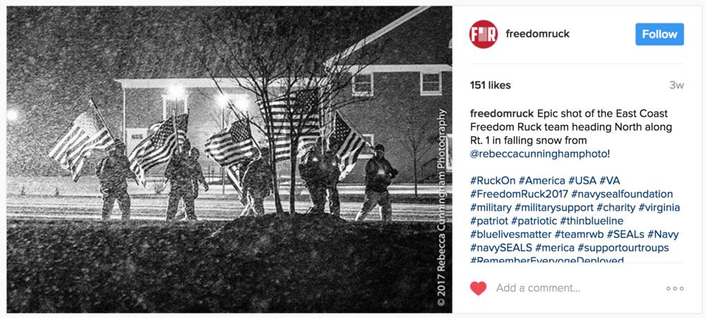 Social Media: Freedom Ruck and Team RWB