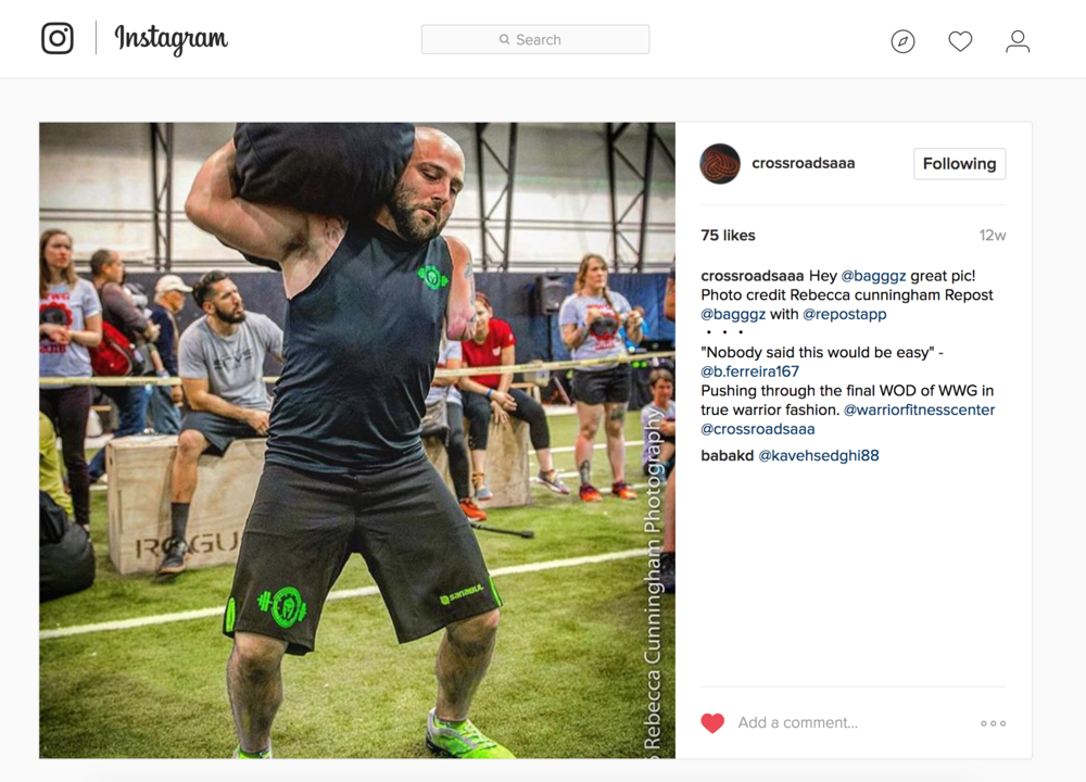 Social Media: Working Wounded Games/Crossroads Adaptive Athletic Alliance