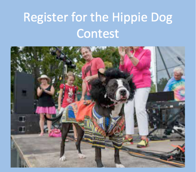 Click to register for the Hippie Dog Contest with prizes