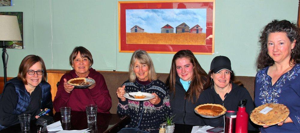 LIFE Pie Sale, 2018  From left: Julie Hunter; Lynn Young; Robin Richardson; Emma Herlinger; Kristi Anderson; Erna Gregory.