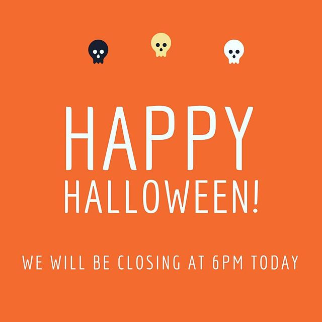 Don't get spooked... We're closing at 6pm today to avoid the zombies🧟‍♂️, but we will see you tomorrow at 11am. . . . . . . #chef #southpasadena #premademeals #losangeles #halloween
