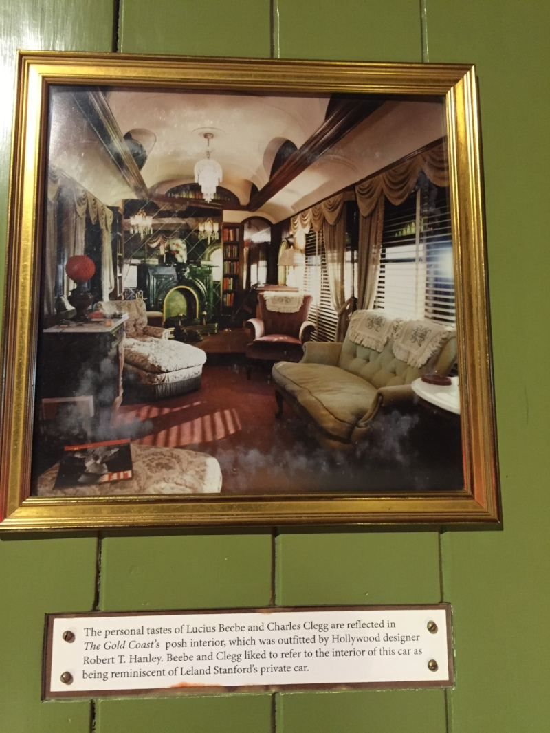 Actual fancy parlor car interior.