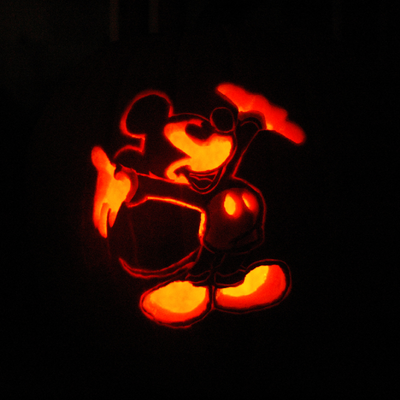 Pumpkin Carving Mickey