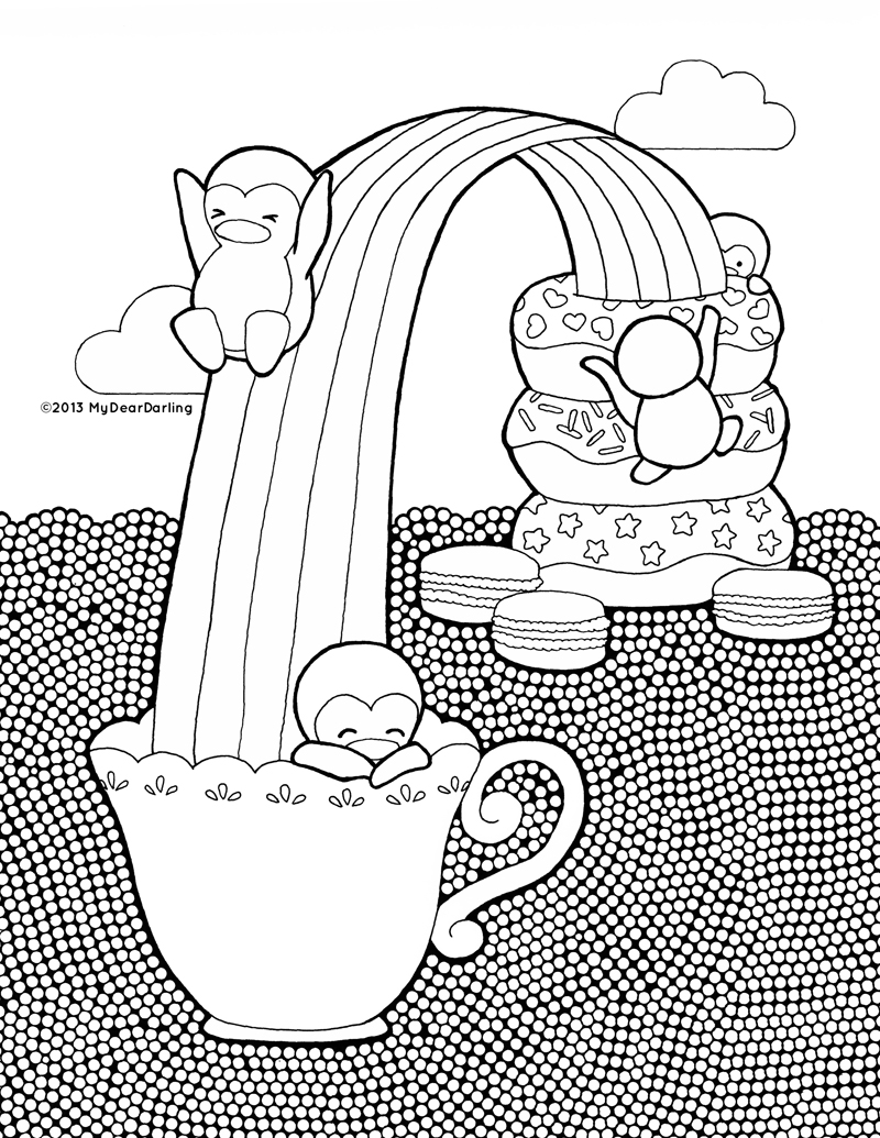 Sweet Adventures Coloring Page