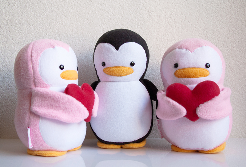 Be Mine Valentine Penguins