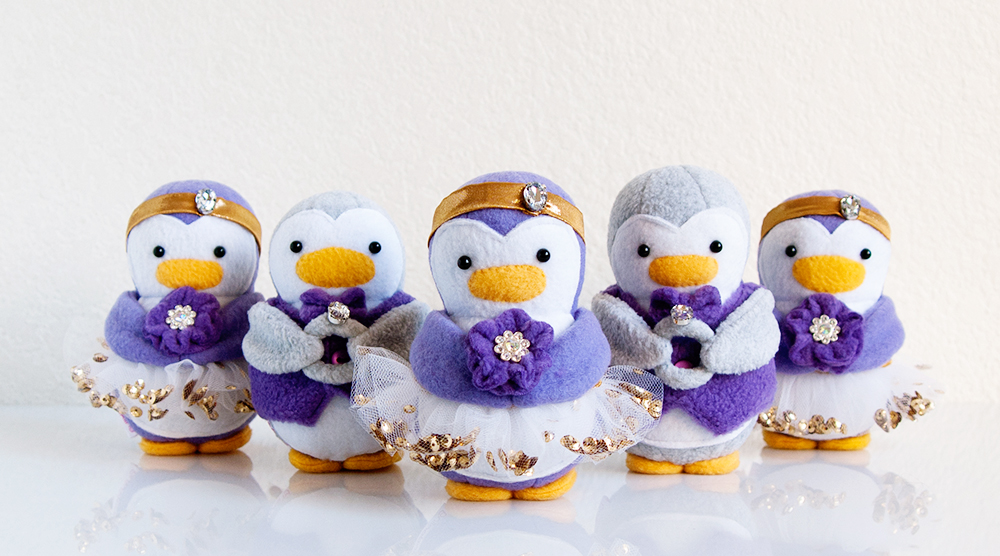 Wedding Flower Girl & Ring Bearer Penguins