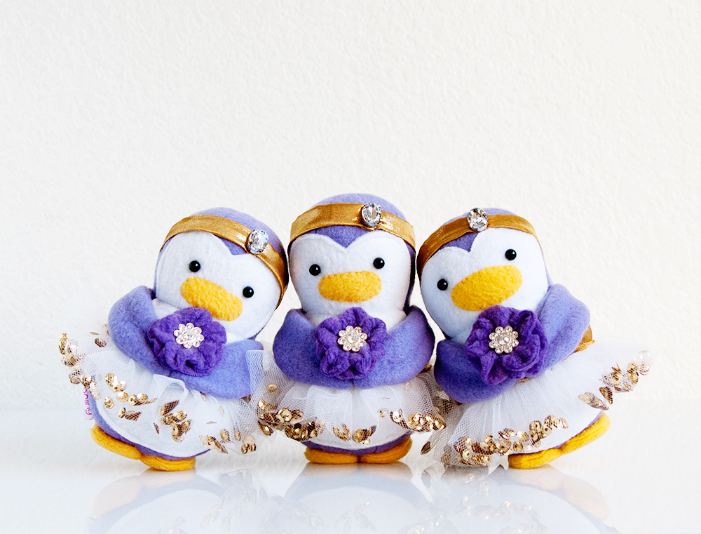 Wedding Flower Girl Penguins