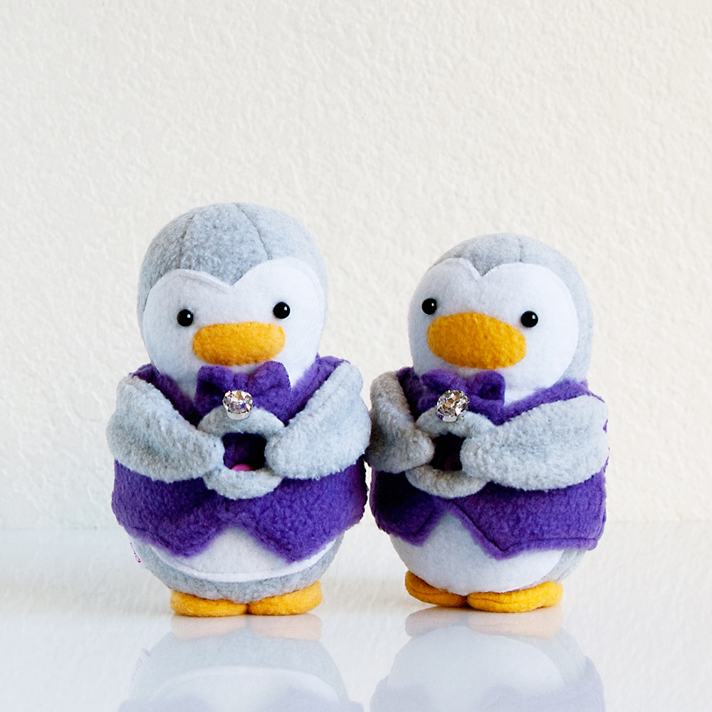Wedding Ring Bearer Penguins
