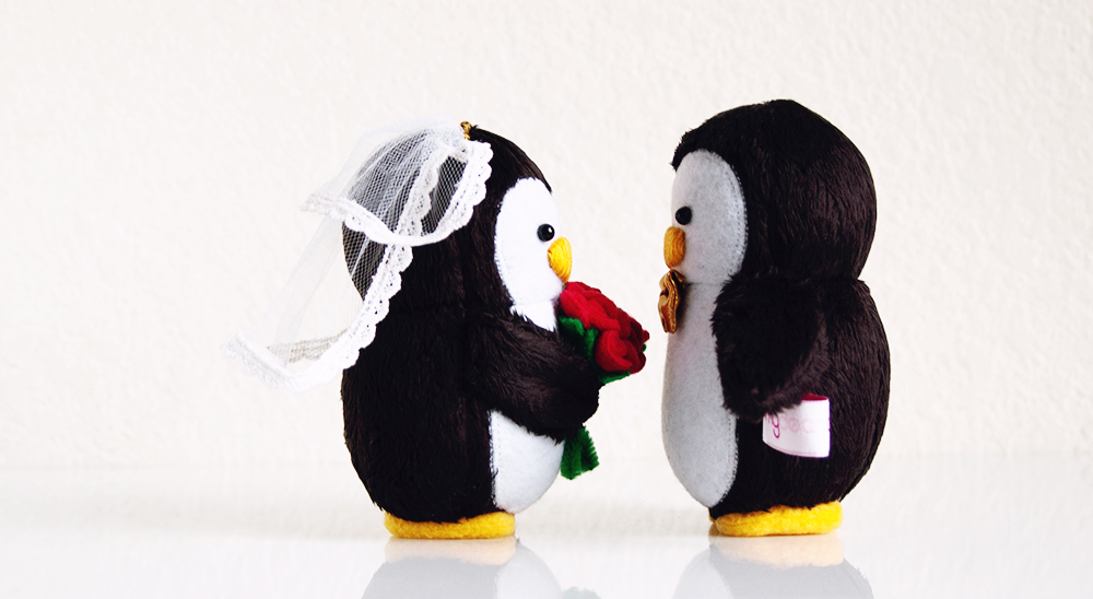 My Dear Darling Wedding Penguins