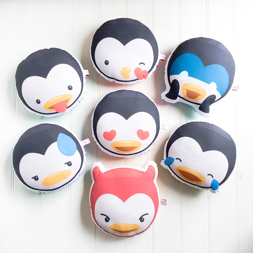 Penguin Emoji Pillows