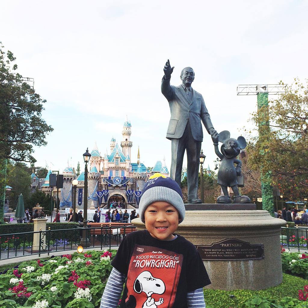 Bruce at Disneyland