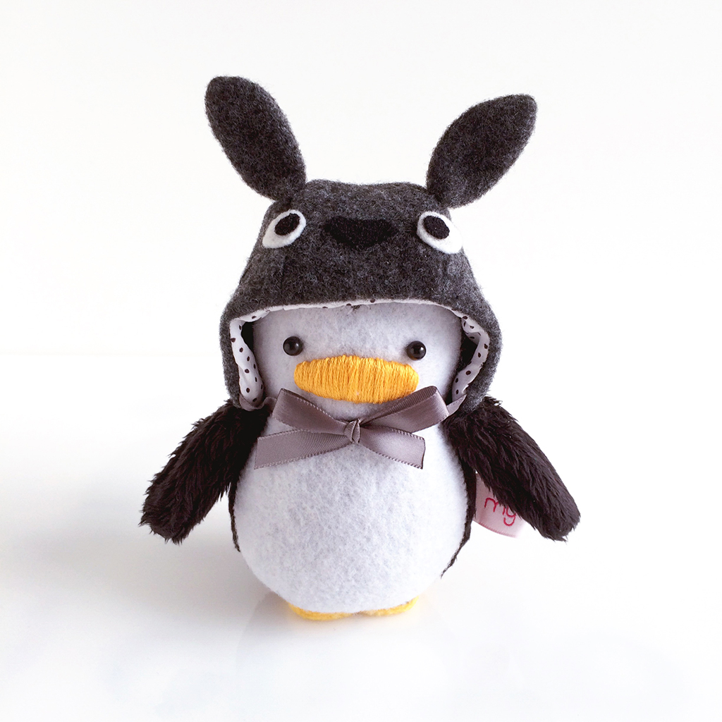 Mini Penguin with Totoro Hat