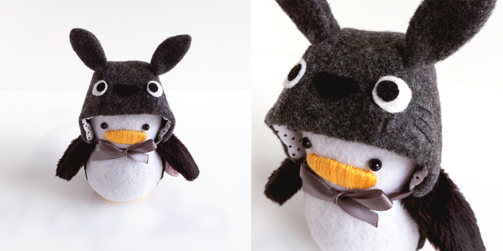 Mini Penguin Totoro Hat