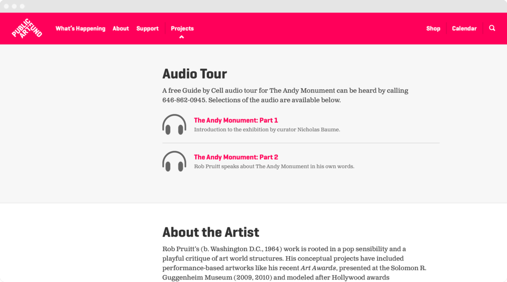 Exhibition audio tours