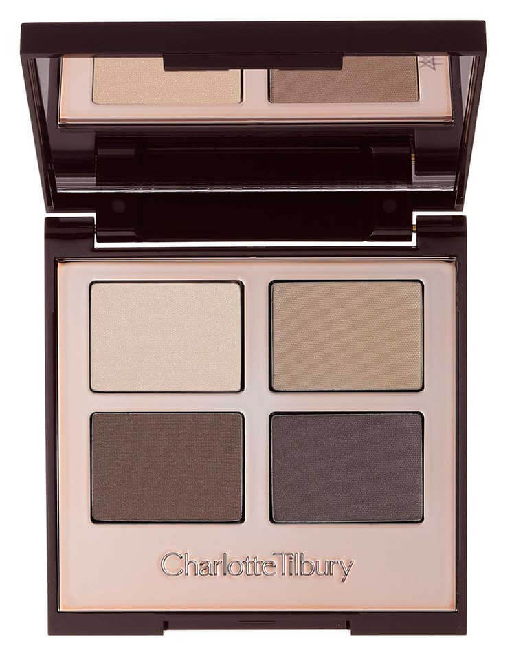 The Sophisticate - While adding a little sparkle is always allowed, a gentle matte taupe color added definition to the eye without overpowering the entire makeup look.We all know Charlotte slays her eyeshadow palettes so there's that, too.
