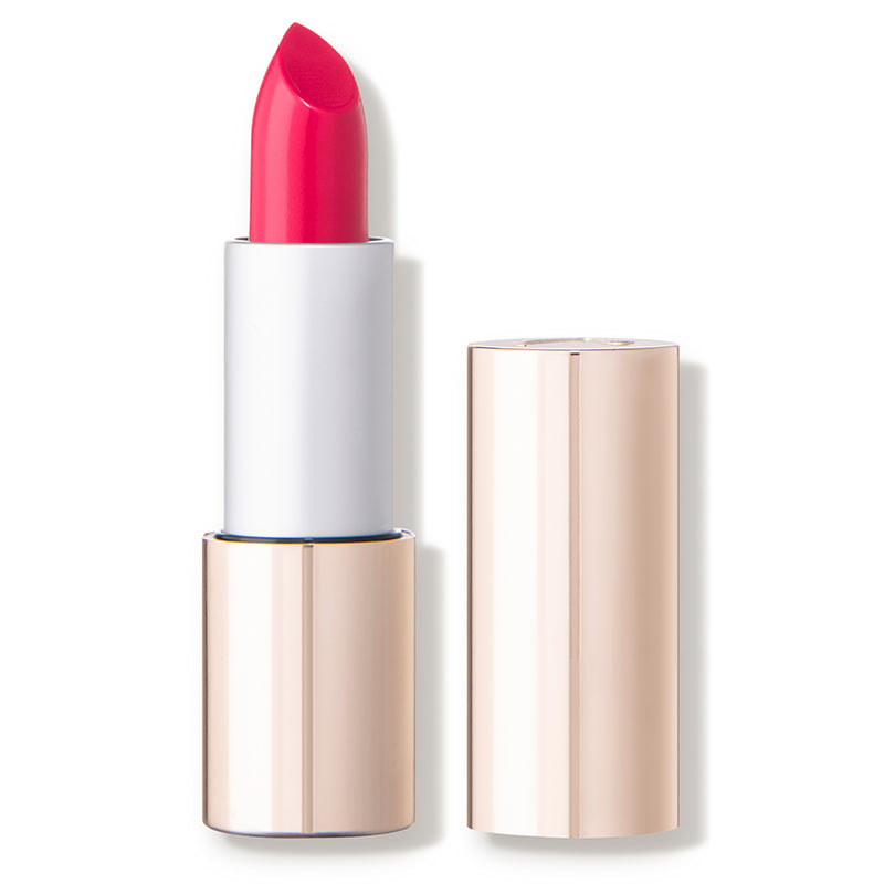 Natalie - While the product title may be a mouthful, the Triple Luxe Long Lasting Naturally Moist Lipstick from jane iredale makes up for it with a comfortable lipstick and a big payoff.
