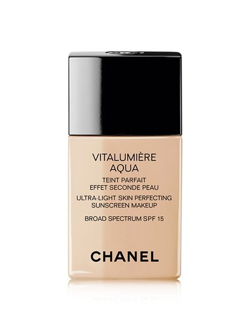 The Luxe Lady - For when you need to treat yoself with a luxury foundation with a light coverage, look no further than Vitalumière Aqua from Chanel. The brand that is responsible for tweed jackets and Parisian chic nails it with this foundation, which is completely in line with the effortlessness of French female beauty.This product provides breathable coverage that you can build to your desired opacity. It's water based and contains hyaluronic acid to keep skin moisturized and help with any fine lines in addition to dryness. Smaller than a smartphone and easy to apply, you can throw this foundation in your bag and apply with your fingers for the perfect glow.