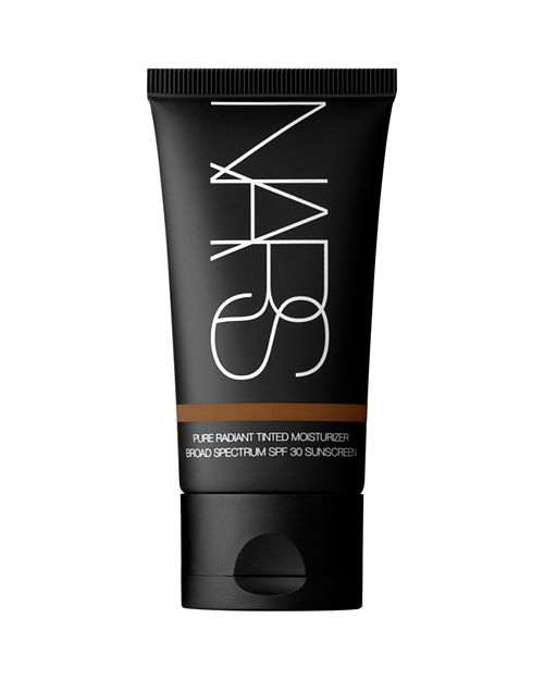 The Lightweight - Algae and sea water add minerals to give the Pure Radiant Tinted Moisturizer from NARS a formula that helps heal and protect the skin. Coupled with the SPF in this formula, you'll be protected from UV rays. We also love that this product is one of the most skin tone inclusive of its type.This tinted moisturizer has sheer coverage and drenches dry skin without covering the natural coloring. Want your freckles to shine through? This product will allow that to happen while fighting hyperpigmentation and adding a healthy glow to your complexion.