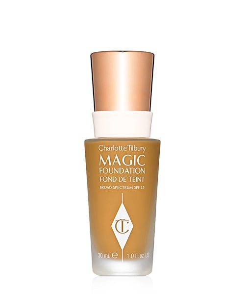 The Benjamin Button - While we love this foundation for all ages, we especially adore it for those folks with signs of aging. Charlotte Tilbury's Magic Foundation gives highly pigmented coverage that feel light on the skin and doesn't settle into lines. Hear that? No more creasing!An added bonus is that this formula contains the same active ingredients as Charlotte's Magic Cream to combat skin concerns like texture and irritation. Hylauronic acid provides moisture and vitamin C fights free radicals and pollutants. The added bonus of mushroom extract allows this foundation to heal any age spots caused by sun damage, with continued use.