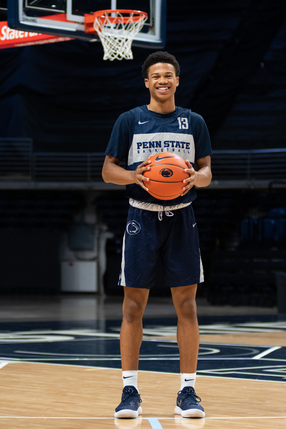 Guard Rasir Bolton (13) poses during Penn State men's basketball media day at the Bryce Jordan Center on Tuesday Oct. 16, 2018. | Photo by: Noah Riffe