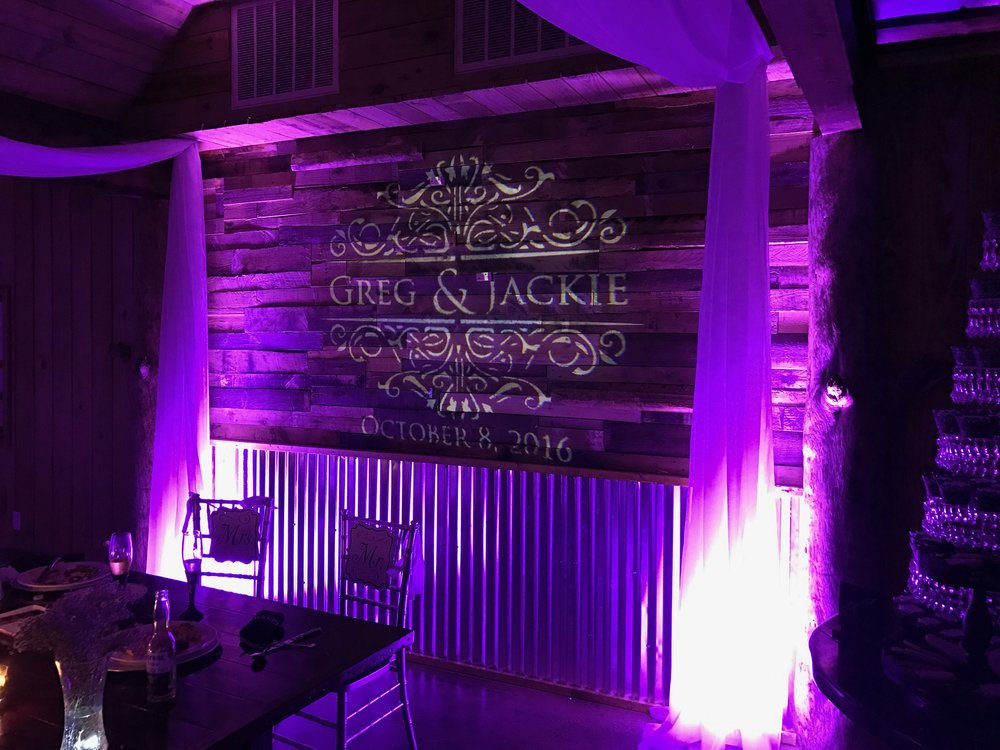 Personalized GOBO Monogram with DJ Packages.