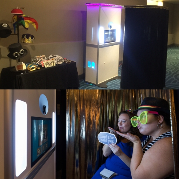 Party Goers Having Fun with our Photo Booth Rental in Orlando