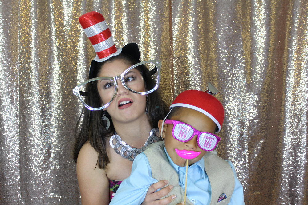 Having fun in our Photo Booth in Orlando