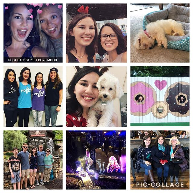 It's been a year of new puppies, fun concerts, becoming a REFIT instructor, and lots of sweet friends and fun memories. 2018, you've been a good one! So thankful. ✨ #bestnine