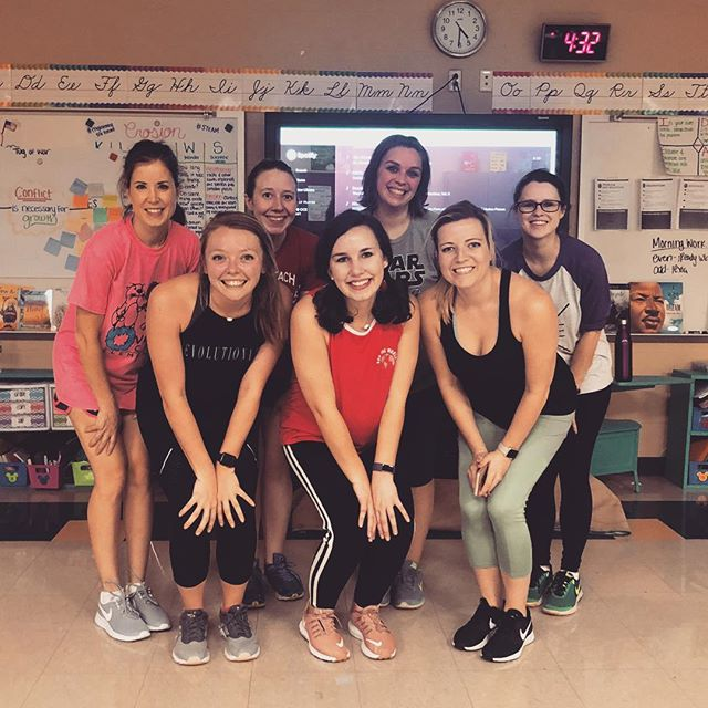 Love this OCE REFIT crew! Come join us on Wednesday's at 3:30 in my room for a fun workout! 💃🏻 Missing several faces this week! 🤒 #goawayflu #andstrep #andtornadowarnings